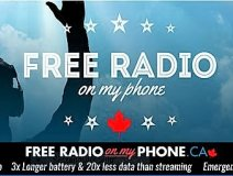 The NCRA campaign banner promoting the NextRadio app platform