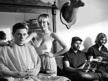 The July Talk ensemble with Peter Dreimanis and Leah Fay'