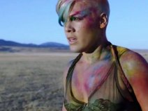 """Pink as she appears in the official video release for """"Just Give Me A Reason."""""""