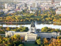 The capital city with a view of the South Saskatchewan River