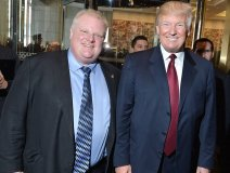 Holy Batman, it's Rob and Donald. This pic has absolutely zip, zero, squat to do with the column or music in general other than retired music biz lawyer David Basskin posted this eyesore to his Facebook page yesterday and we just couldn't resist ourselves.
