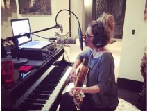 Shania in the studio, as posted on her Twitter account.