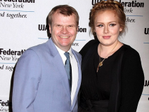 Rob Stringer with Adele at a music charity event in NYC.