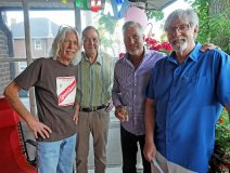 Sultans of Swing: Mike Levine, Ted Woloshyn, Derrick Ross and birthday boy and FYI columnist Bill King. Picture taken last night by the indomitable Kris King.