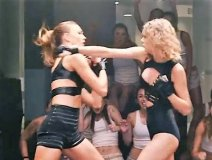 Taylor Swift warms up for her fight with Karlie Kloss.