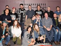 The Edge gang at the Phoenix for the CASBY Awards on Friday night.