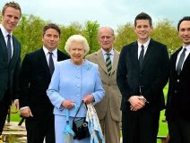 The Tenors with Queen Elizabeth and Prince Philip
