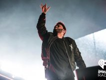 The Weeknd was the star among stars performing at the iHeartRadio Jingle Ball at the ACC on Saturday.
