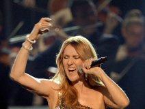 Celine on stage Sunday evening