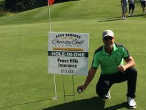 On the golf course, for the first time ever at this tournament, a guest made a hole in one at the Lacombe Golf and Country Club which landed Robert Gardiner a $10,000 cash prize.