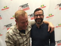Joel Carriere (l) sharing a laugh with UTA's Rob Zifarelli at the Live Music Industry Awards at CMW.