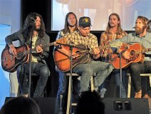 Sheepdogs on stage last night performing at the 2nd annual CIMA Awards. Photo credit: Bill King