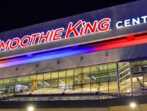 The Smoothie King Center is located in New Orleans, adjacent to the Mercedes-Benz Superdome