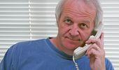 Terry Wickham working the phone