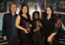 L-R : Eric Baptiste, SOCAN Chief Executive Officer; Leela Gilday, award winner; Haviah Mighty, award winner; Charlie Wall-Andrews, SOCAN Foundation Executive Director) Photo Credit: Brad Ardley
