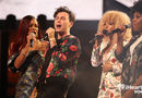 Arkells' Max Kerman with The Arkettes last night