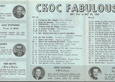 CKOC 1965 chart