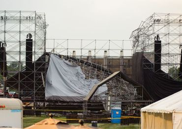 Radiohead stage collapse  Photo: ET Canada