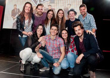 The cast of La Voix III