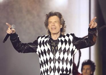 Mick Jagger  Photo	from Rolling Stones FB page