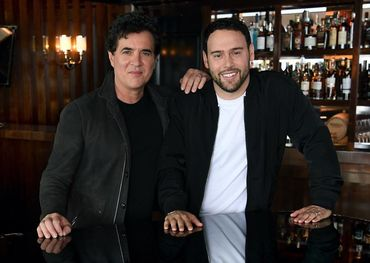 Scott Borchetta (l) and Scooter Braun  Facebook photo
