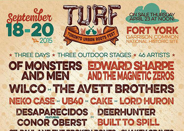TURF Festival Lineup Poster