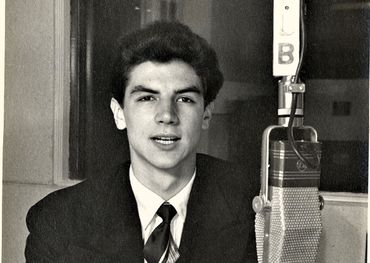 At the mic in the late 1940s