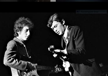 A youthful pic of Robbie with Bob Dylan taken in NYC. Pic: Robbie Robertson Instagram page