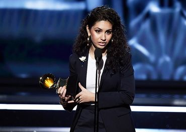 Alessia Cara with her Best New Artist Grammy  Photo: popcrush.com