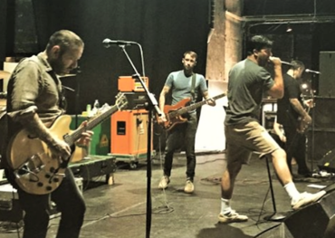 Alexisonfire in rehearsals.
