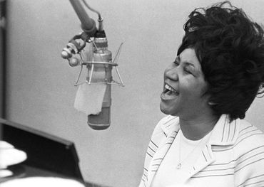 Aretha in 1967 at FAME Studios in Muscle Shoals