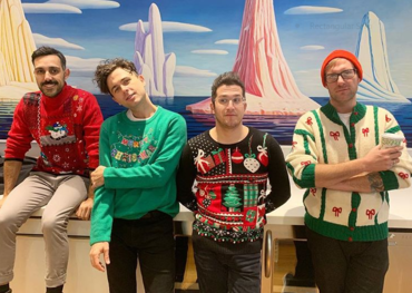 Arkells dressed for the festive season. Pic: Instagram