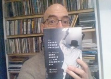 Author Michael Barclay with his new book - photo courtesy of ECW Press.