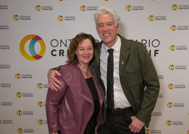 Ontario Creates President/CEO Karen Thorne-Stone poses with CARAS President/CEO Allan Reid at the Live Nation Lounge  (supplied photo)