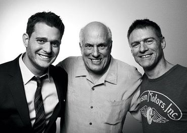 L-R: Michael Bublé, Bruce Allen and Bryan Adams