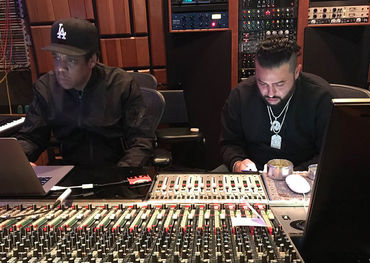 Jay-Z and Belly in the studio (Photo: Instagram)
