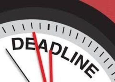 FYI Calendar of Deadlines