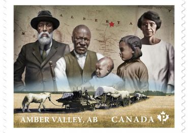 Canada Post early communities honoured in 13th Black History Month Stamp, Amber Valley (CNW Group/Canada Post)