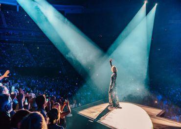 Celine Wednesday night in Quebec City. Pic: Celine Dion Facebook