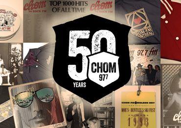 CHOM 50th Facebook banner