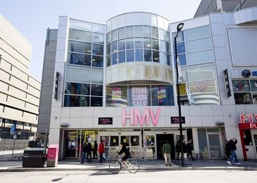The former HMV store on Yonge St. in Toronto