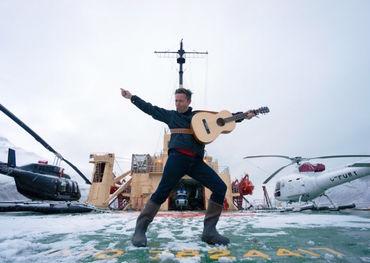 Danny Michel aboard the Russian icebreaker