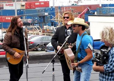 Dean Brody and Alan Doyle on the Halifax waterfront