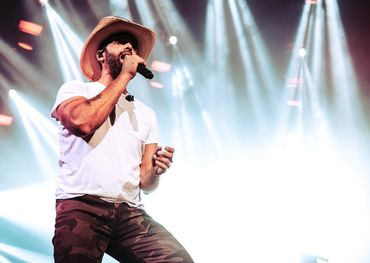 Dean Brody on the Bud stage in Toronto Friday night. Pic: Frankie Ludikar