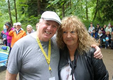 Publisher Roddy Campbell with Maggie Bell