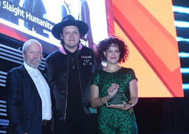 Gary Slaight with Win and Regine of Arcade Fire