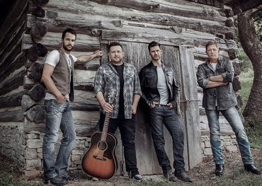 Emerson Drive members pose with their rural roots