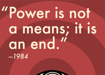 Image courtesy of Paste magazine. Quote attributable to George Orwell
