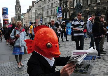 Fish head at Fringe Festival