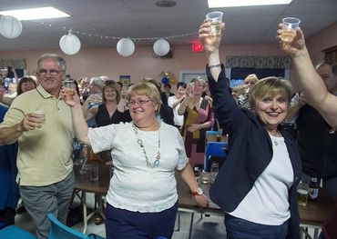 Gander residents raised a cheer for the cast last night. Pic: Canadian Press